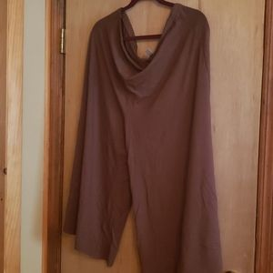 Caramel brown soft stretchy culottes style